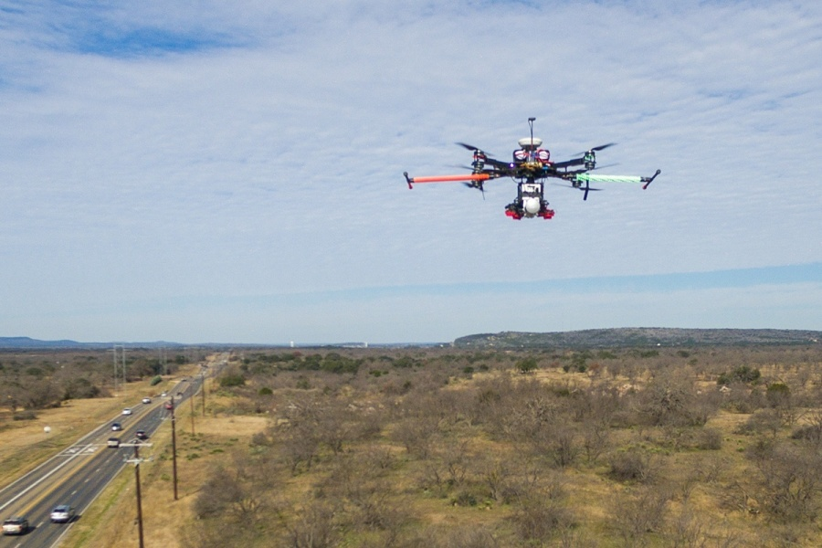 From a height of 60 feet, the drone can capture a 3-D view of potential dangers to the system.