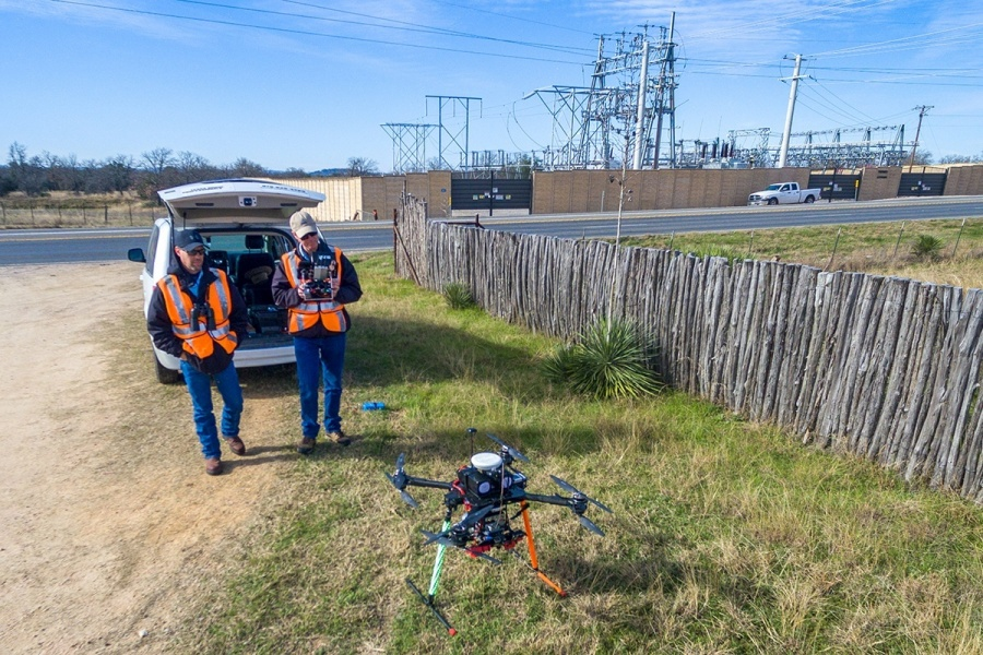 Curtis Youngblood, right, and Brian Butler are with McCord Engineering, Inc. (update: Texas Drone Professionals was acquired by MEI in June 2017.)