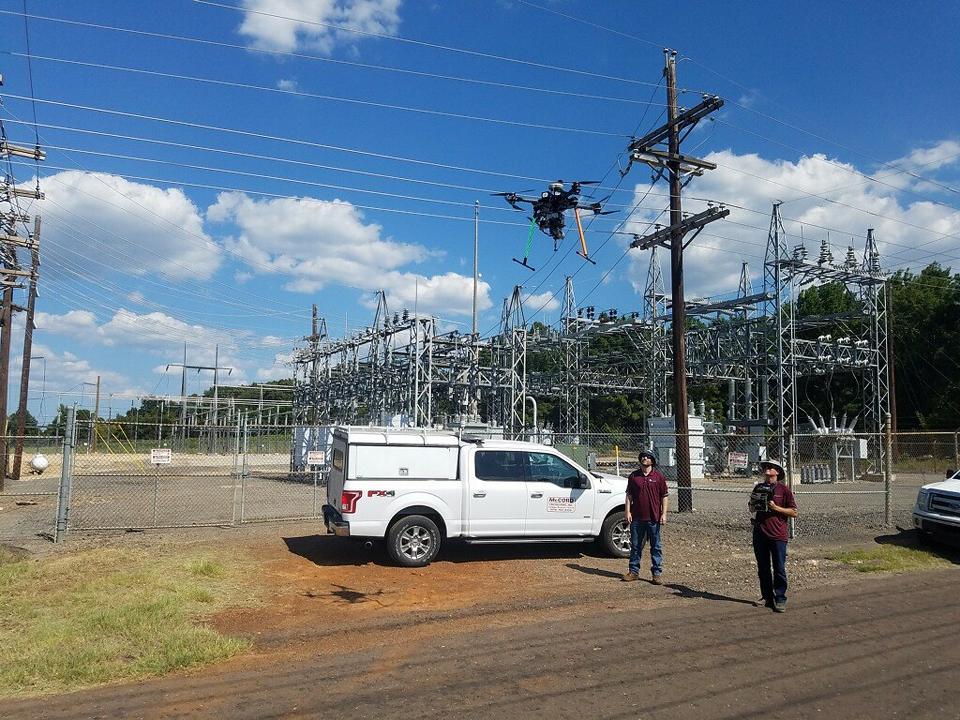McCord UAV flight team on-site