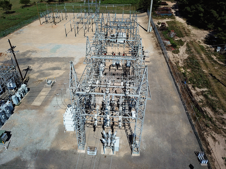 UAV point of view of the substation