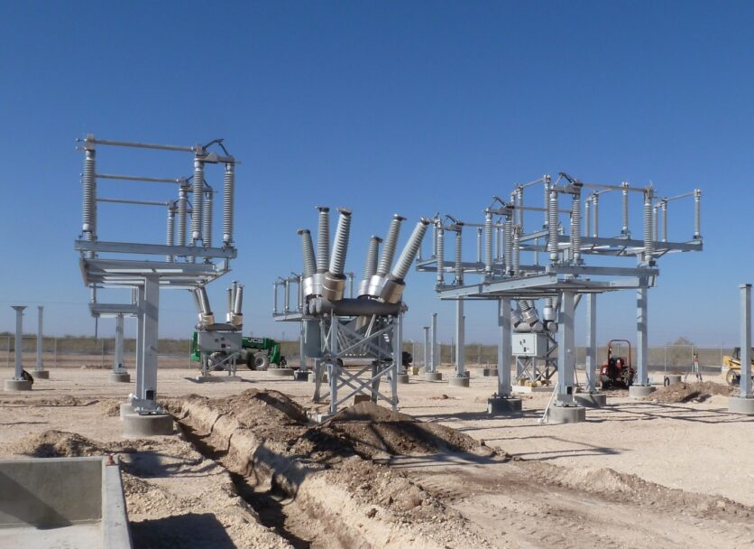 New electrical substation under construction